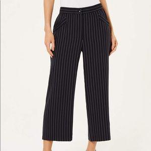 Eileen Fisher Tencel Crop Wide-Leg Striped Pant